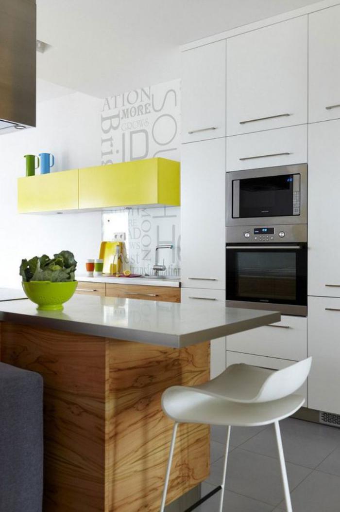 cuisine-blanche-et-bois-cuisine-contemporaine-déco-bois-et-blanc