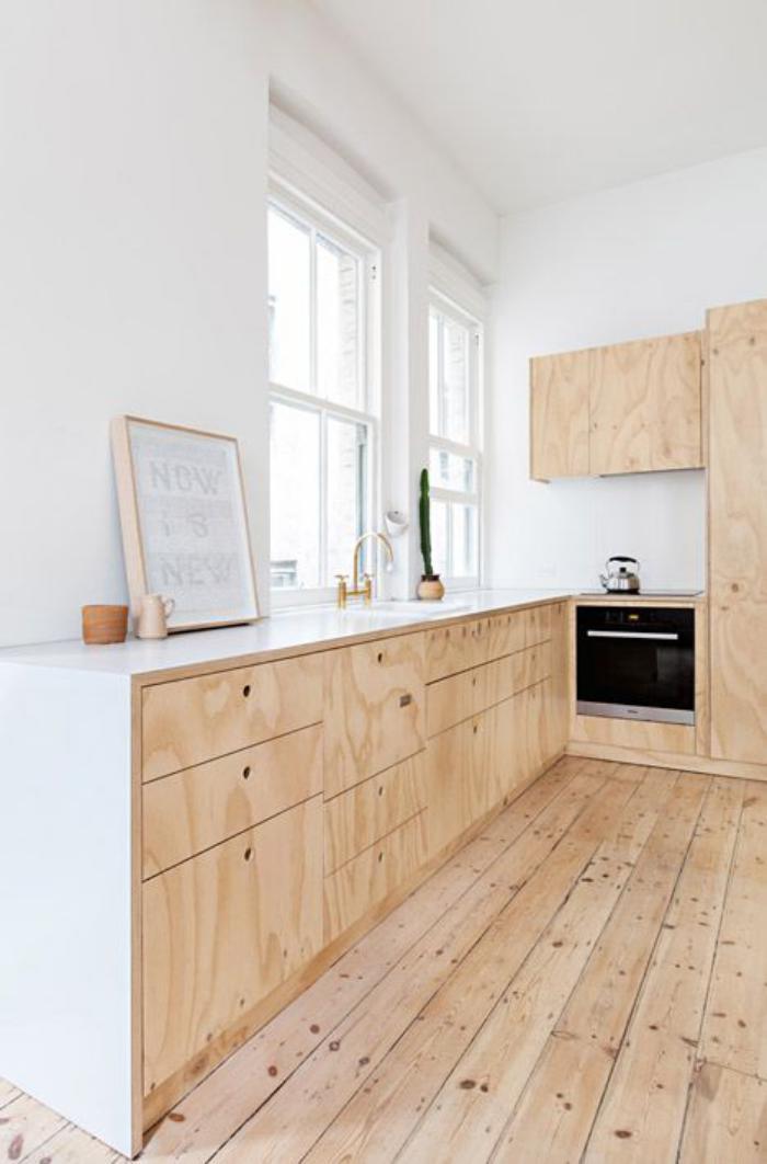La cuisine blanche et bois en 102 photos inspirantes - Cuisine bois naturel ...