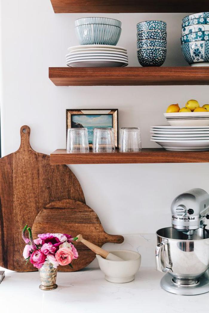 La cuisine blanche et bois en 102 photos inspirantes - Cuisine contemporaine blanche comment creer la cuisine parfaite ...