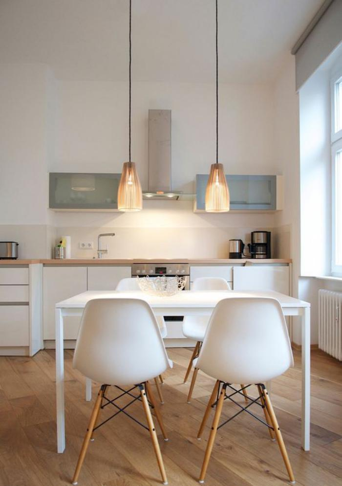 La cuisine blanche et bois en 102 photos inspirantes for Style de cuisine moderne photos