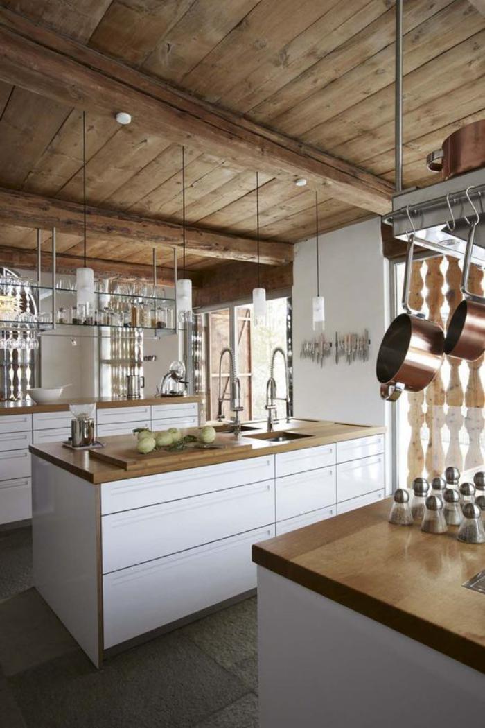 cuisine-blanche-et-bois-déco-cuisine-scandinave