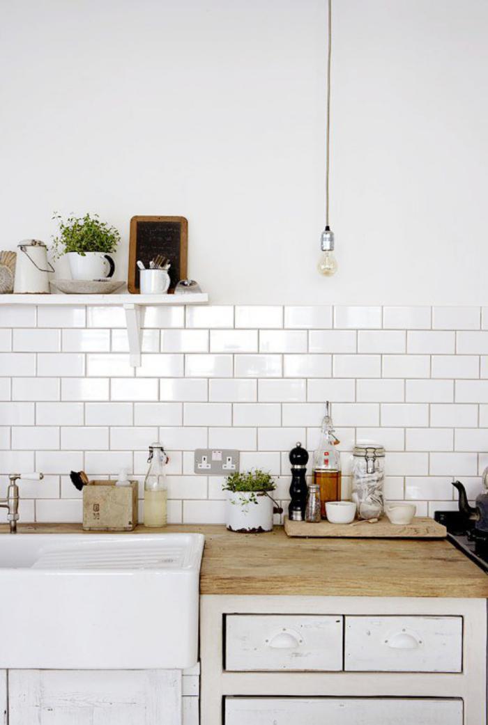 La cuisine blanche et bois en 102 photos inspirantes for Cuisine de reve