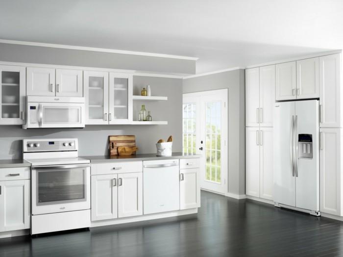 cuisine-blanche-et-inox-cuisine-blanc
