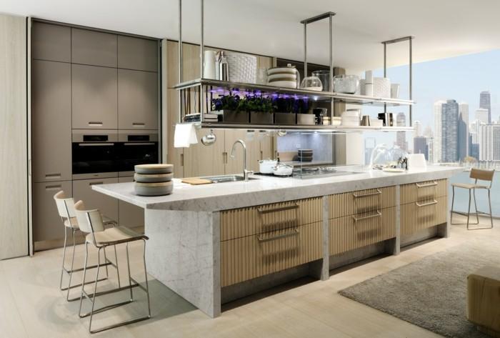 Cuisine blanche et inox id es et astuces en 90 photos for Modele cuisine inox