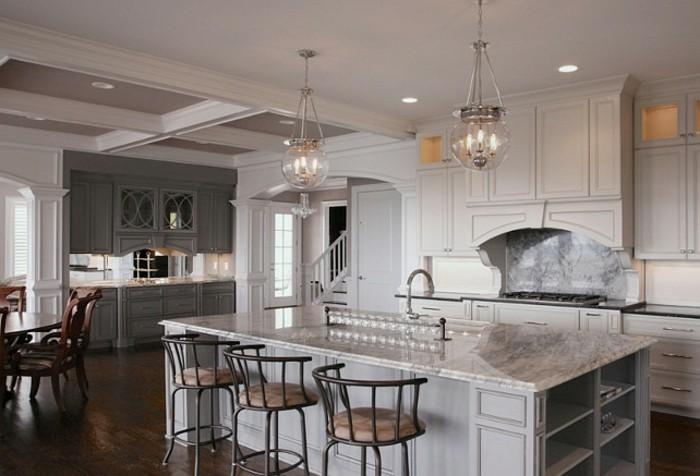 cuisine-idée-decoration-plafond-platre-décoration-plafond