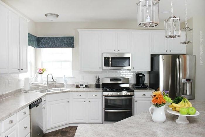 Cuisine blanche et inox id es et astuces en 90 photos - Cuisine en blanc ...