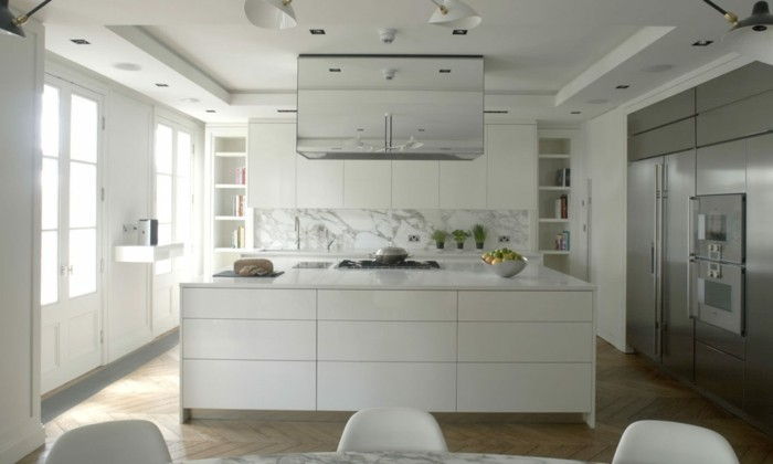 cuisine-meubles-blancs-idée-déco-cuisine-blanche