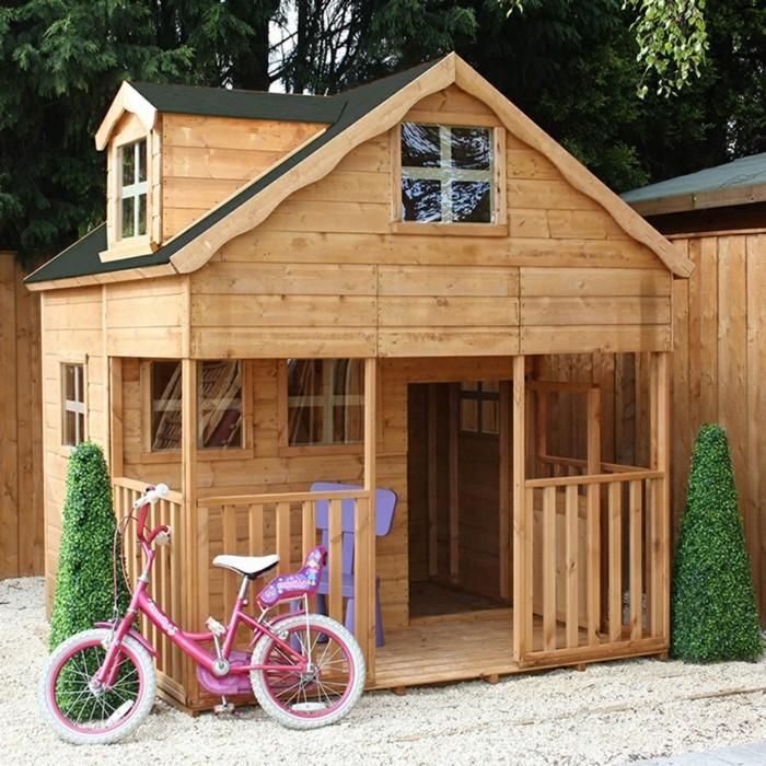 déco-extérieur-maisonnette-enfant-bois-bicyclette