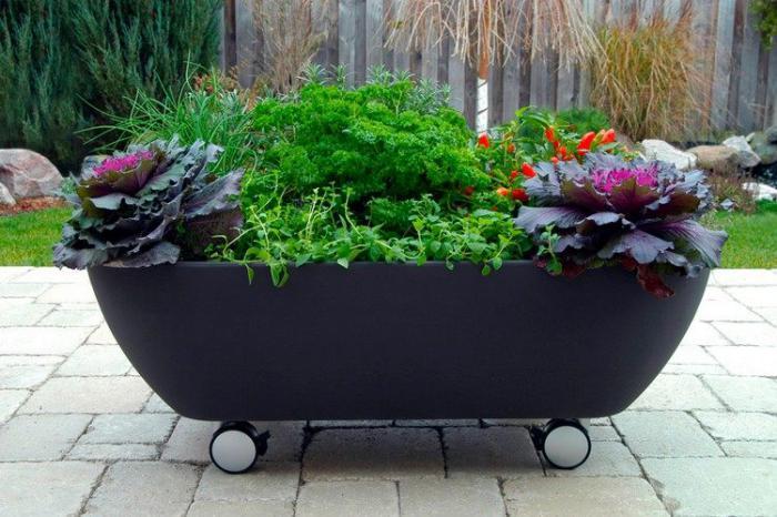 déco-jardin-récup-baignoire-pot-de-fleurs
