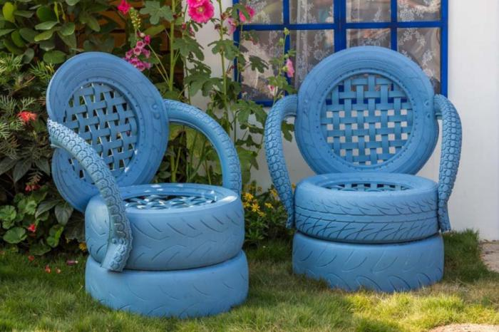 déco-jardin-récup-décoration-avec-objets-recyclés