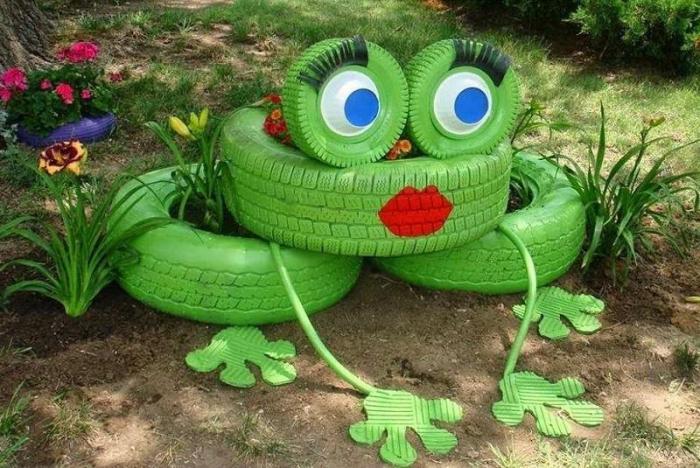 déco-jardin-récup-décoration-avec-pneus-recyclés