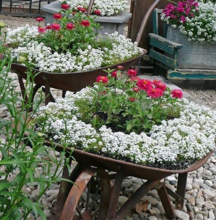 Comment Decorer Une Brouette Avec Des Fleurs