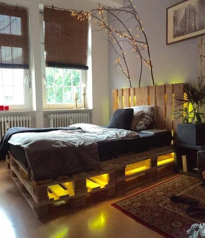 Les meilleures id es pour cr er votre dosseret de lit - Lit palette led ...