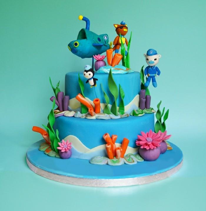 délicieux-gateau-d-anniversaire-enfant-marine-theme
