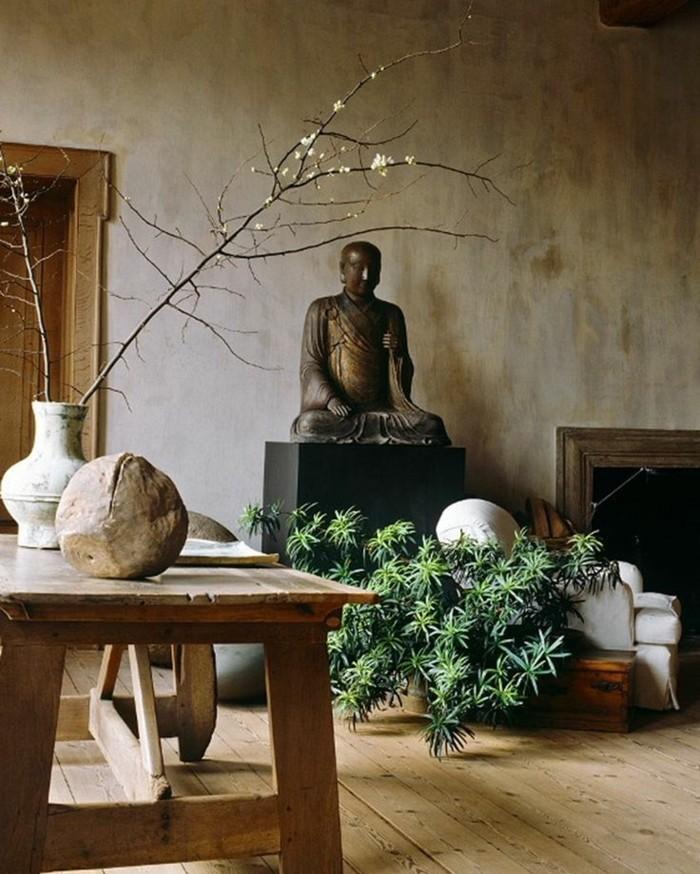détails-zen-deco-chambre-taupe-décoration-intérieur-chic-buda-plantes-vertes-azia-beauté
