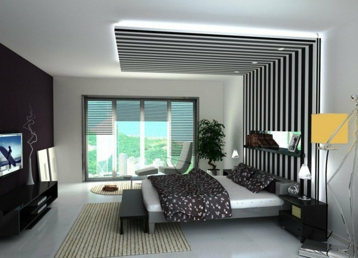 maison styl e contemporaine l 39 aide de plafond moderne. Black Bedroom Furniture Sets. Home Design Ideas