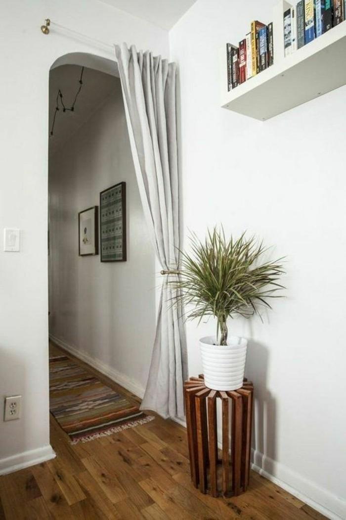 entre-chic-avec-rideau-de-separation-beige-sol-en-parquet-mur-blanc-plantes-vertes