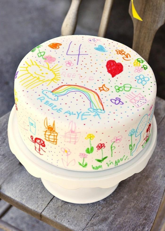 excellent-gâteau-d-anniversaire-enfants-cool-peinture