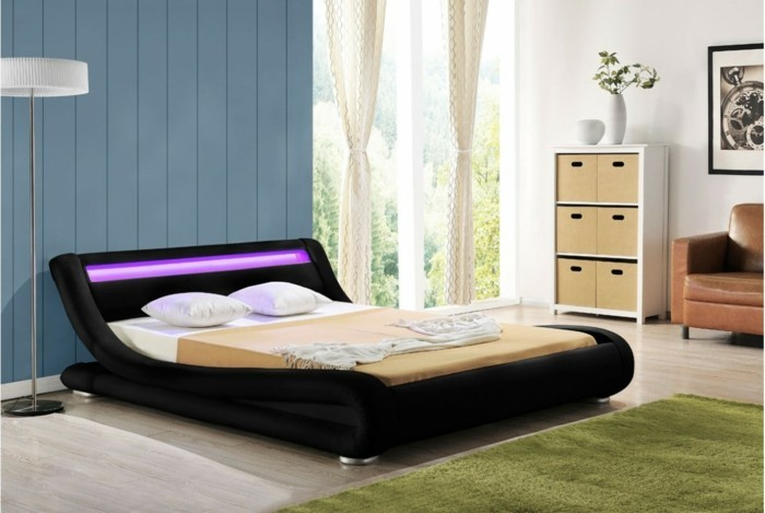 les meilleures id es pour cr er votre dosseret de lit illumin. Black Bedroom Furniture Sets. Home Design Ideas