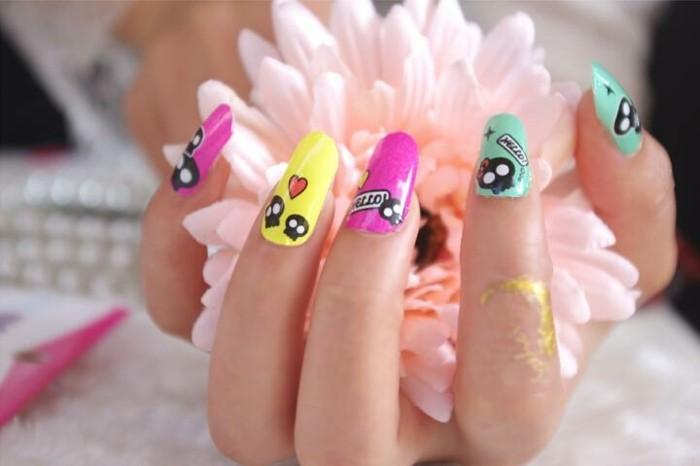 faire-des-ongles-originaux-cool-idée-mignonne
