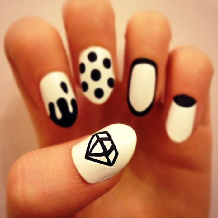 great-designs-on-nails-ideas-nails-in-gel-black-and-white