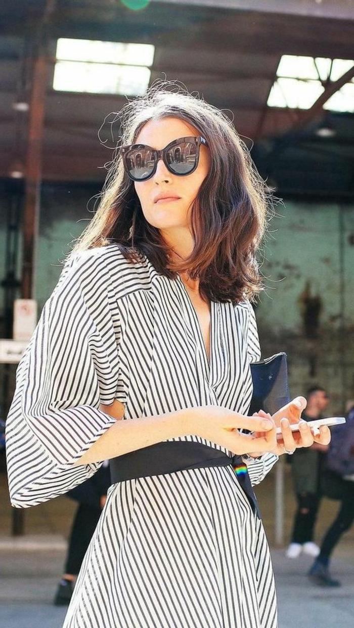 formidable-choisir-ses-lunettes-femme-robe-rayé