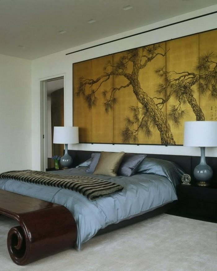 formidable-idée-chambre-à-coucher-zen-cool-couleur-zen-décoration-zen
