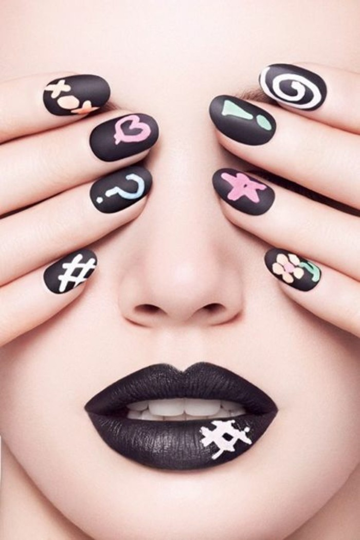 great-idea-nail-designs-beauty-in-black-simple-drawing-on-nail