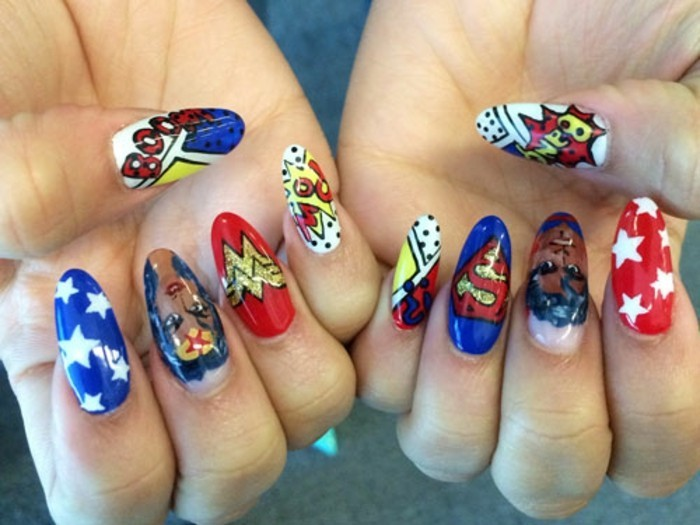french-originale-ongles-idée-d-ongle-joli-super-heros