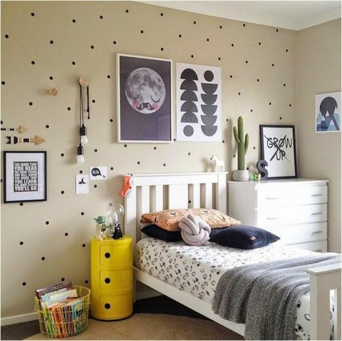 idee-deco-chambre-ado-garçon-10-ans-tapis-beige-papier-peint-pour-les-murs-dans-la-chambre-enfant
