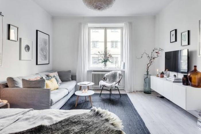 Meubler un studio 20m2 voyez les meilleures id es en 50 - Deco peinture gris et blanc ...