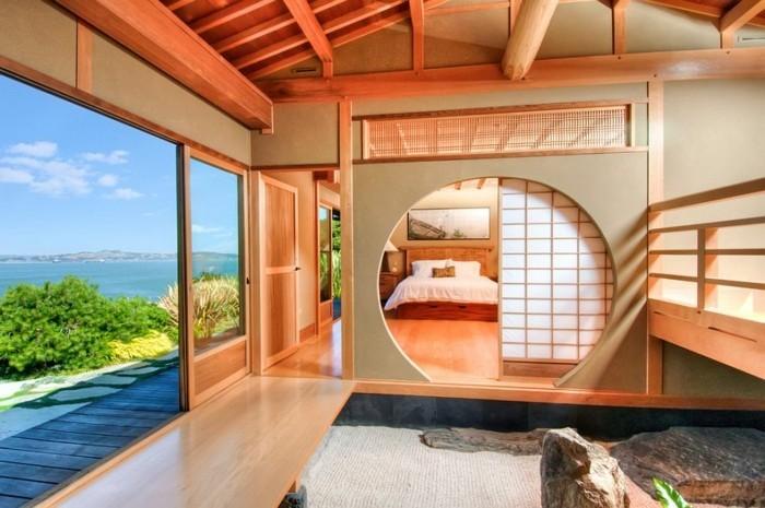 intérieur-déco-chambre-adulte-cool-idée-avec-belle-vue-de-l-ocean