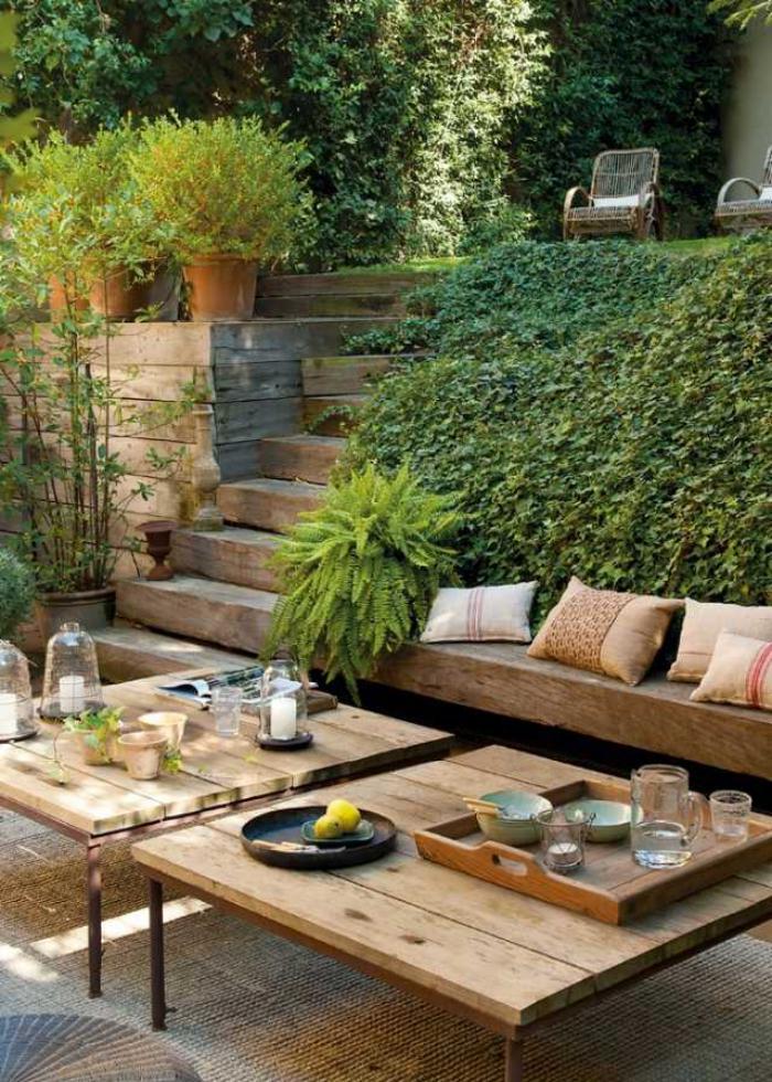 jardin-en-pente-aménagement-paysager-bois