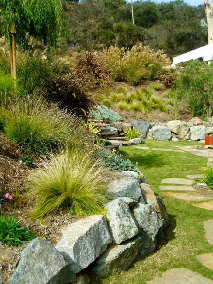Comment avoir un joli jardin en pente? Jolies idées en photos et conseils pour l'aménagement