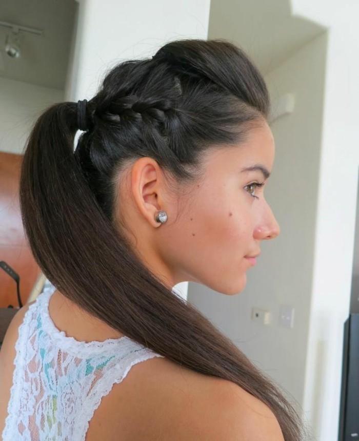 Quelle coiffure facile cheveux long vous va et comment la r aliser 67 id es - Coiffure femme facile a faire ...