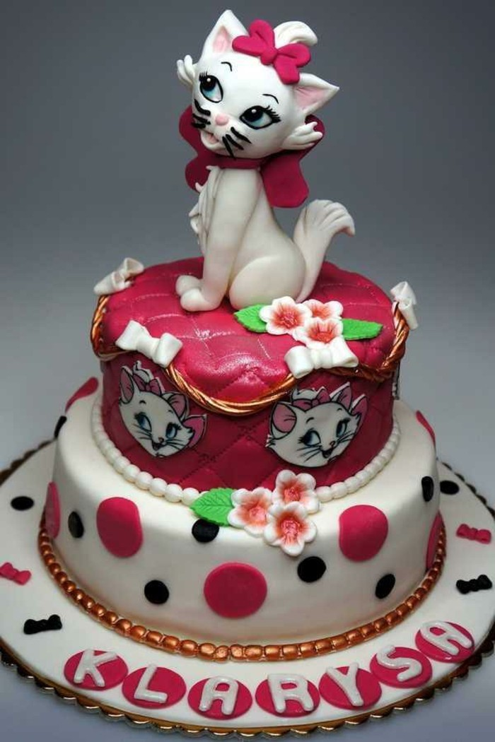 joli-gateaux-d-anniversaire-enfant-cool-idée-chaton