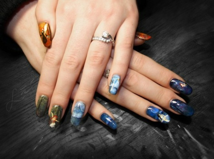 pretty-deco-nails-drawing-on-nail-magnificent-blue