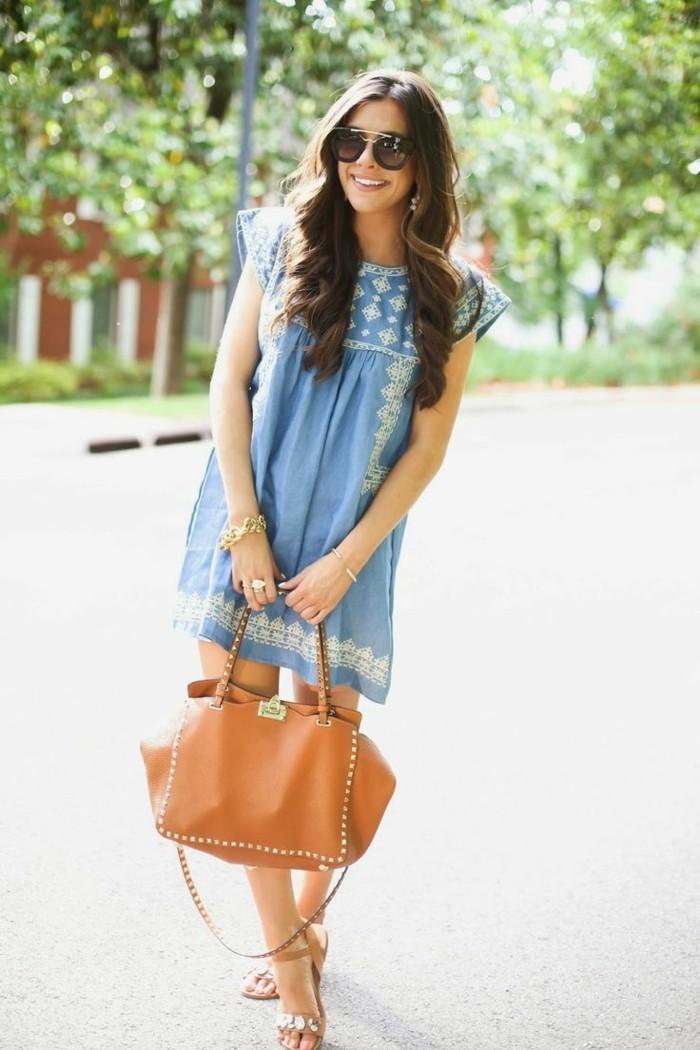jolie-robe-d-été-longue-robe-été-pas-cher-denim