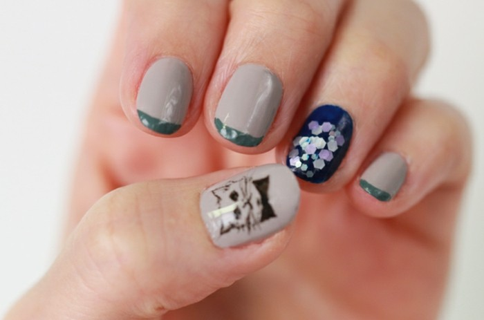 the-designs-on-the-nails-ideas-nails-in-gel-see-the-cute-kitten