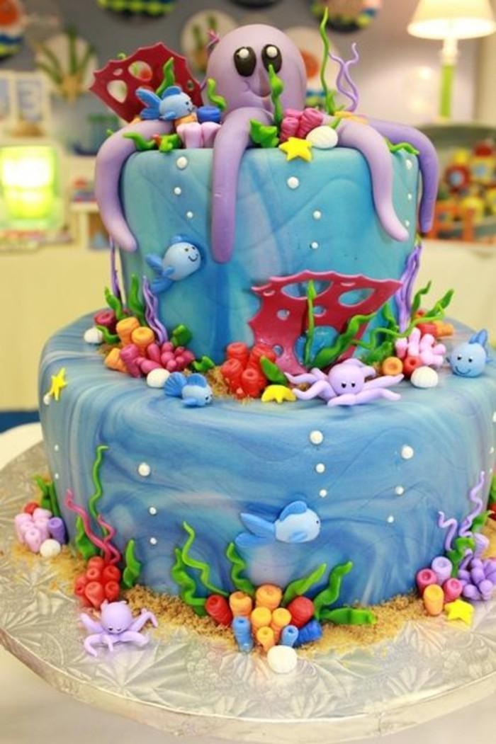 les-gateaux-anniversaire-enfant-mignon-sous-marine-theme