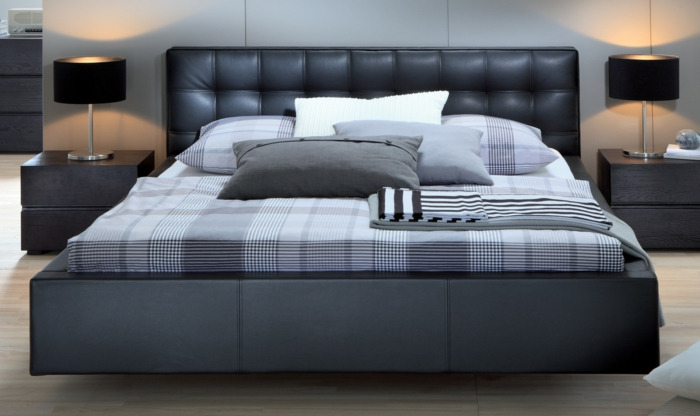 choisissez un lit en cuir pour bien meubler la chambre. Black Bedroom Furniture Sets. Home Design Ideas