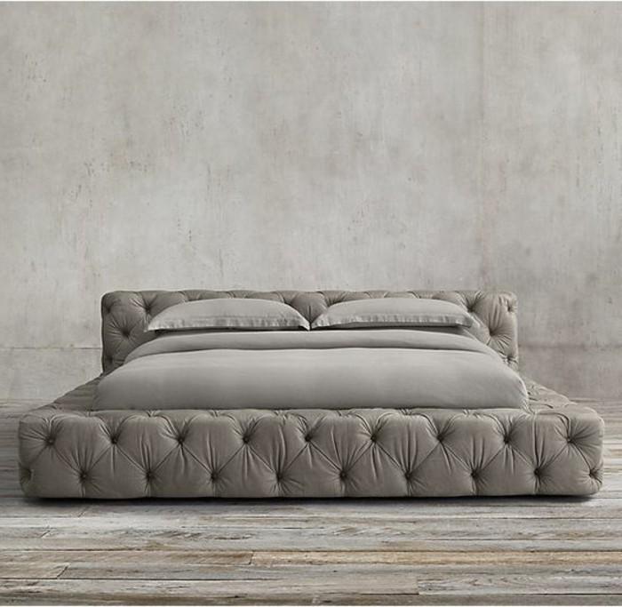 lit-double-pas-cher-en-cuir-capitonnée-tete-de-lit-capitonnée-simili-cuir-chambre-a-coucher-grise