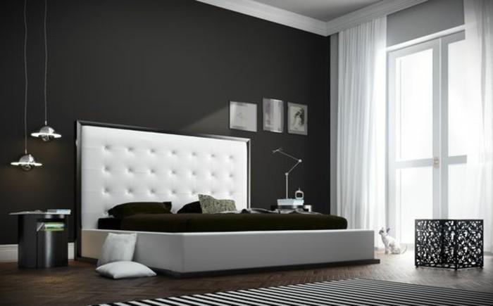 Choisissez un lit en cuir pour bien meubler la chambre coucher - Tete de lit cuir blanc 180 ...