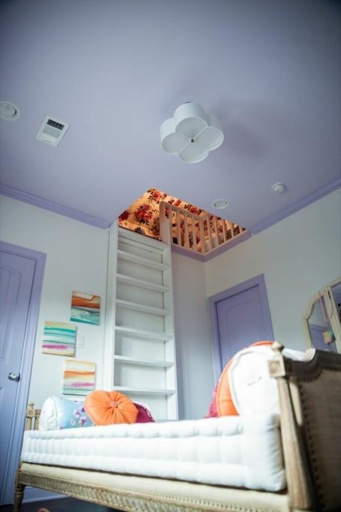 magnifique-idee-pour-la-chambre-ado-conforama-murs-en-violette-clair-idées-pour-la-chambre-d-ado