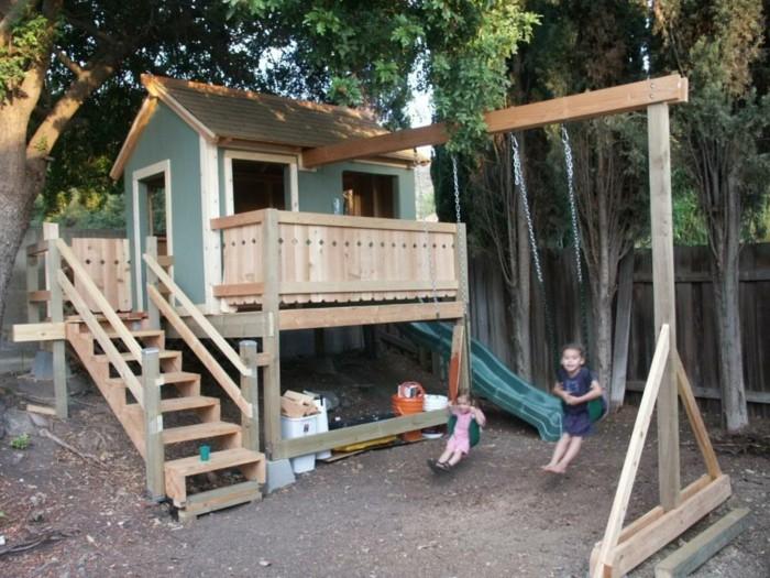 merveille-maison-bois-jardin-idée-jouer-extérieur