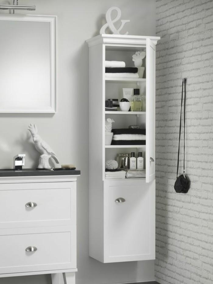 meuble-colonne-de-salle-de-bain-mur-en-briques-blancs-alinea-salle-de ...