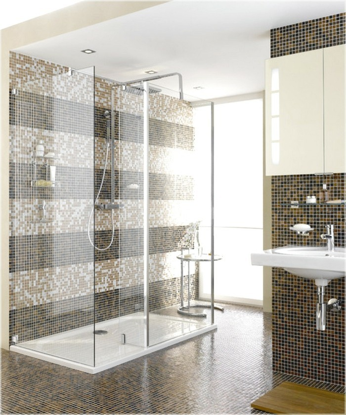 douche italienne design mosaique oa02 jornalagora. Black Bedroom Furniture Sets. Home Design Ideas