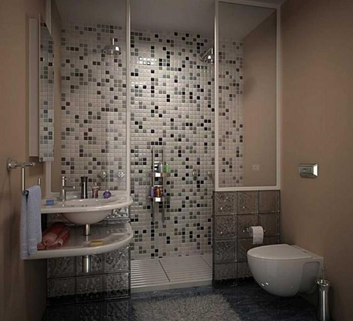 Mod le douche l 39 italienne 74 id es pour l 39 am nager for Exemple de salle de bain petit espace