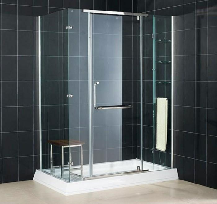 Modèle douche à l\'italienne - 74 idées pour l\'aménager - Archzine.fr