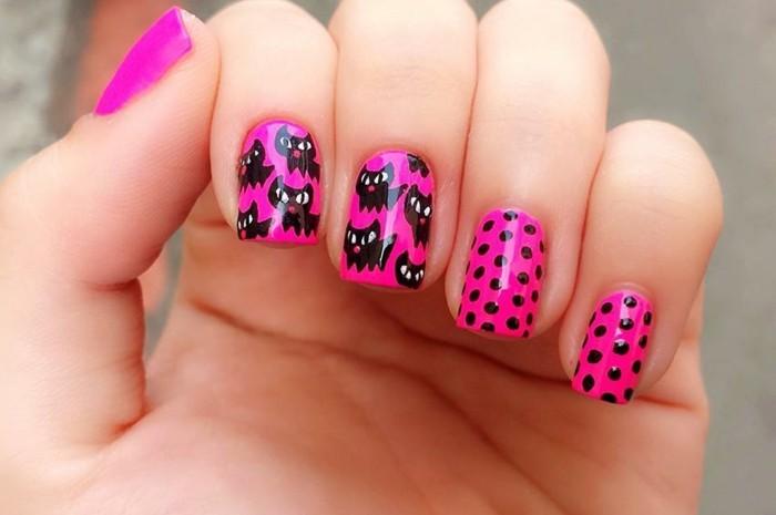 motif-sur-ongles-magnifique-idee-dessin-rose